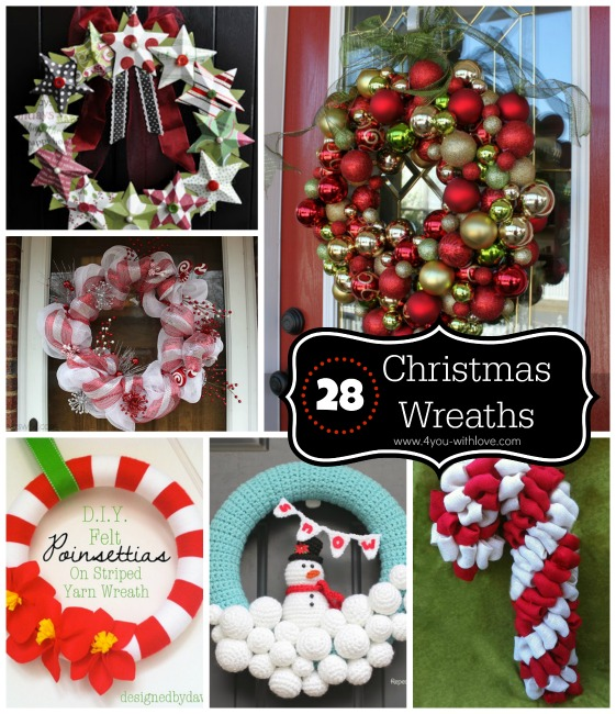 28 Christmas Wreaths to Make