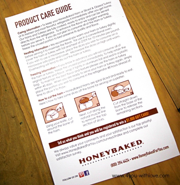 Honey Baked Ham Instructions