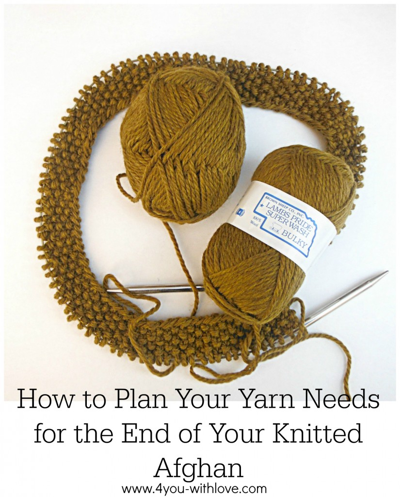 How to Calculate Yarn Needed for an Afghan Border