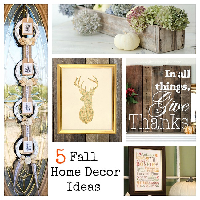 5 Fall Decorating Ideas & The Project Stash