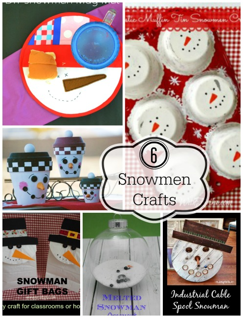 6 Snowman Crafts & The Project Stash Link Party