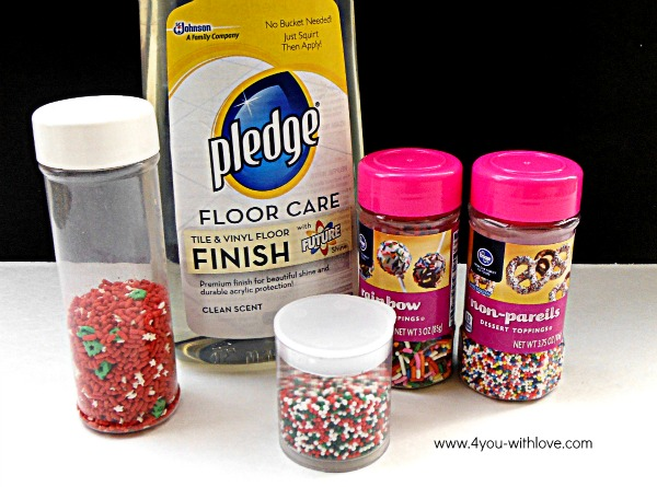 Supplies for Cake Sprinkle Ornaments