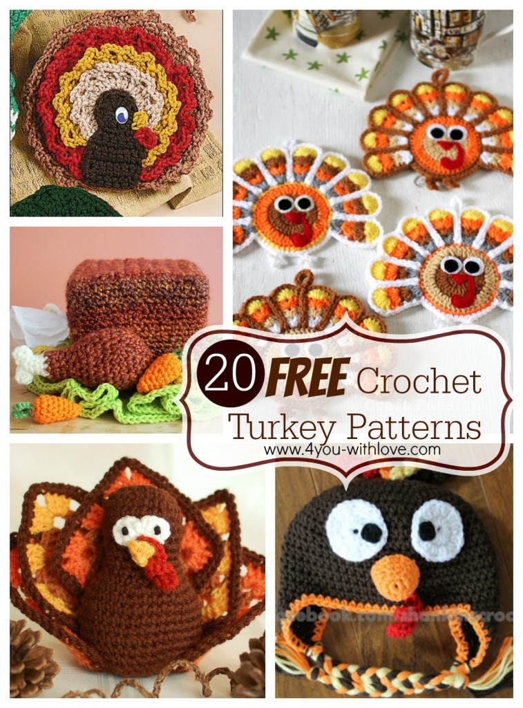 20 Free Crochet Turkey Patterns