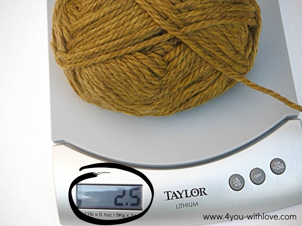 knitting tips weigh yarn after knitting boarder