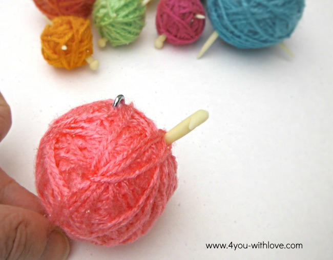 yarn ball ornament for crocheters