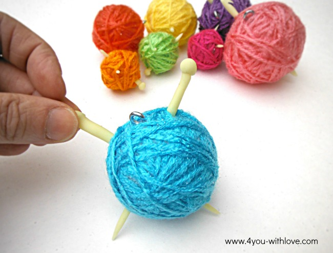 yarn ball ornament for knitter