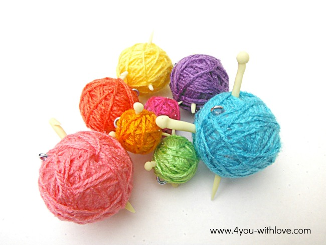 yarn ball ornaments for crocheters & knitters