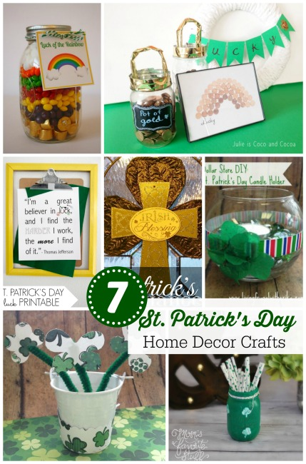 7 St Patrick Day Home Decor Crafts PLUS The Project Stash Link Party