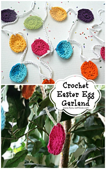 Quick and Easy Crochet Easter Egg Garland