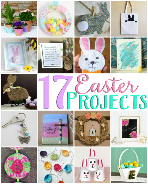 Easter projects & crochet egg garland