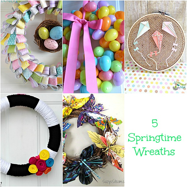 5 Spring Wreaths & the Project Stash Link Party