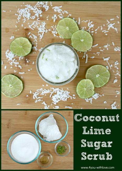 An EASY DIY Coconut Lime Sugar Scrub Recipe