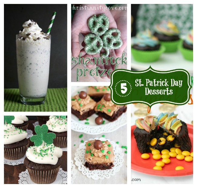 7 St Patrick Day Desserts PLUS the Project Stash Link Party
