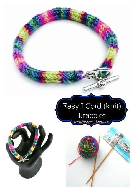 I Cord Bracelet (Easy Knit Bracelet)