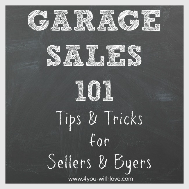 Garage Sale Tips & Tricks