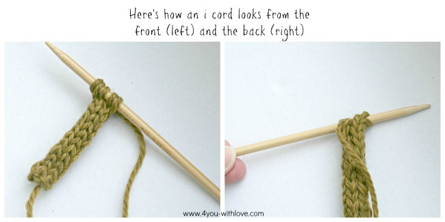 how to knit an i cord