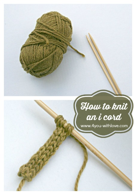 How to Knit an I Cord (tutorial)