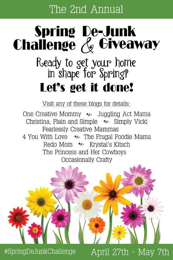 Join the 2nd Annual DeJunk Challenge & Giveaway (Spring Cleaning)