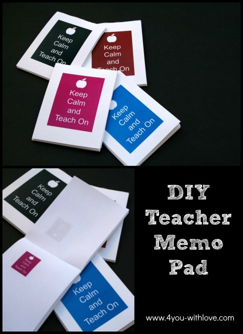 DIY Teacher Appreciation Memo Pads & Craft Lightning