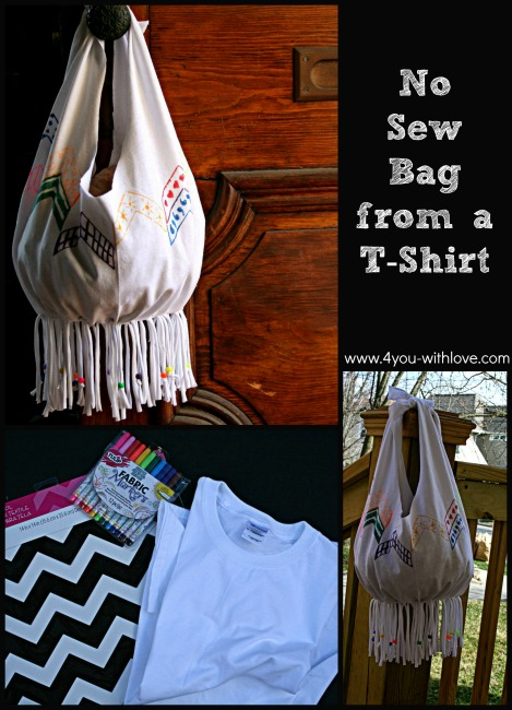 No Sew Bag: A fun Upcycle Craft (#ilovetocreate)