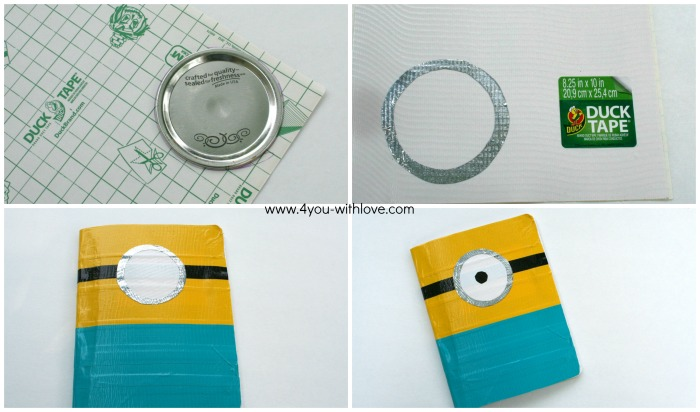 final steps diy minion composition book