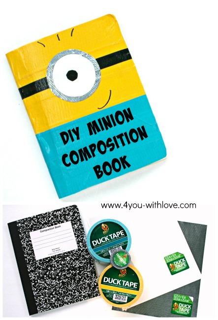 DIY Minion Composition book