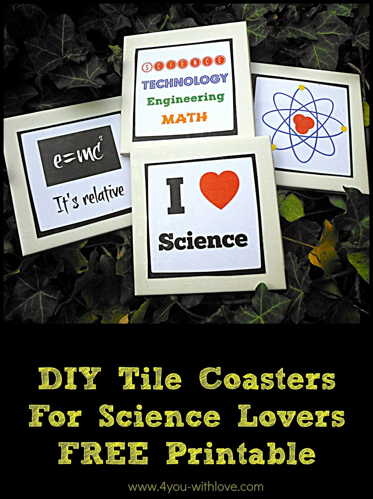DIY Coasters for Science Lovers