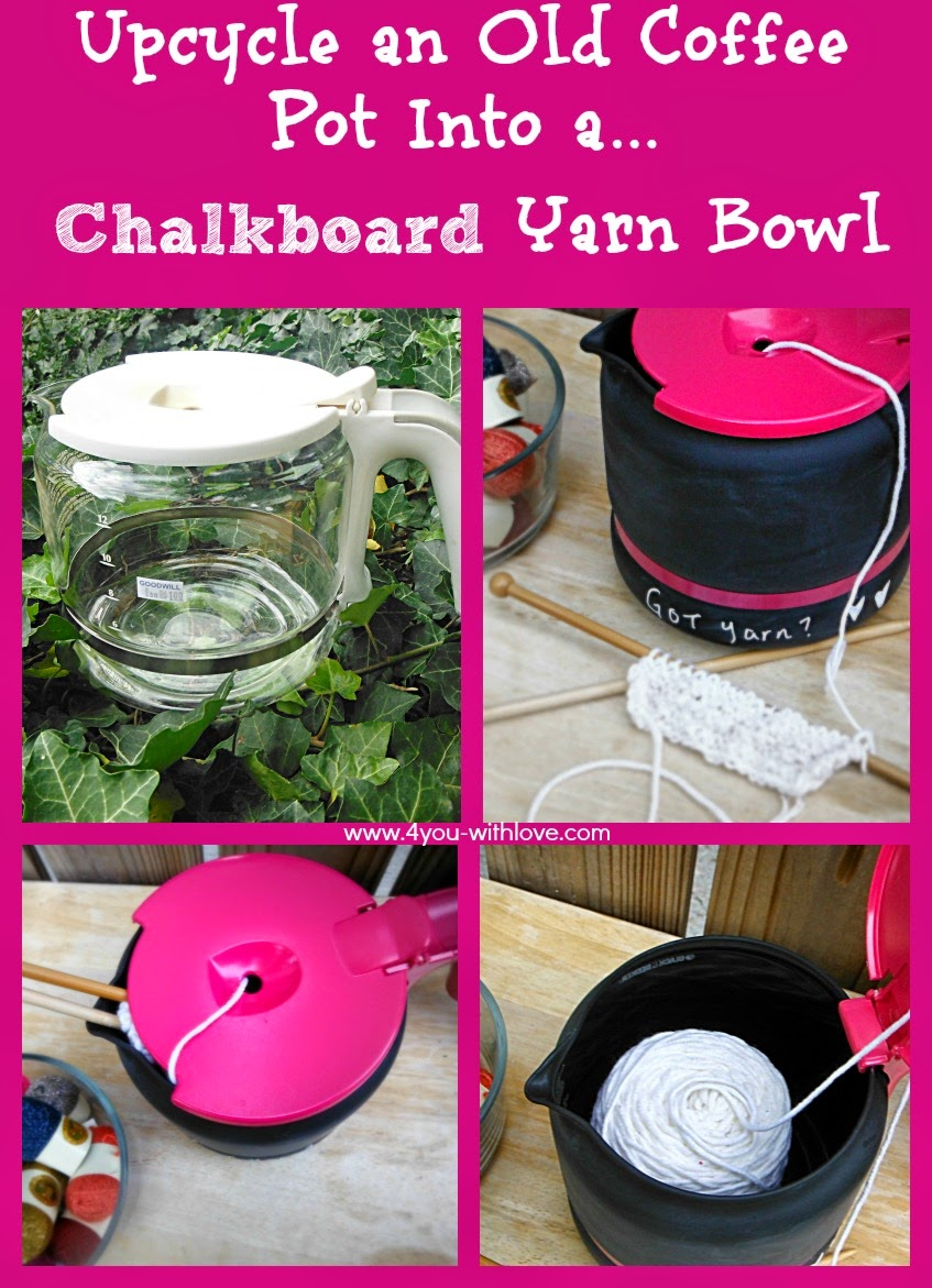 DIY Chalkboard Yarn Bowl – Great for Pet Owners