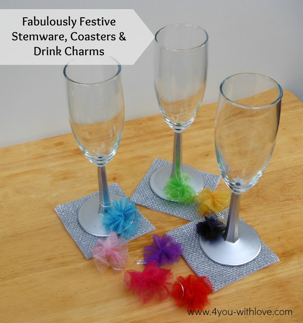 #FabulouslyFestive Stemware, Coasters, and Drink Charms