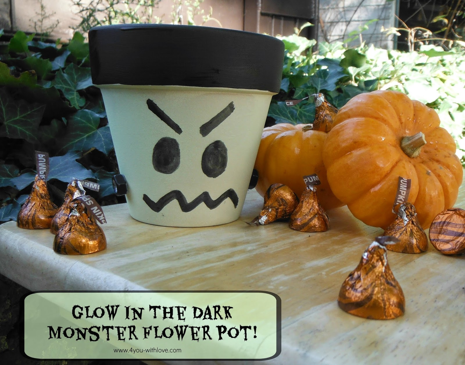 Glow in the Dark Monster Flower Pot & Glow In The Dark Monster Flower Pot (#CraftLightning) - 4 You With Love