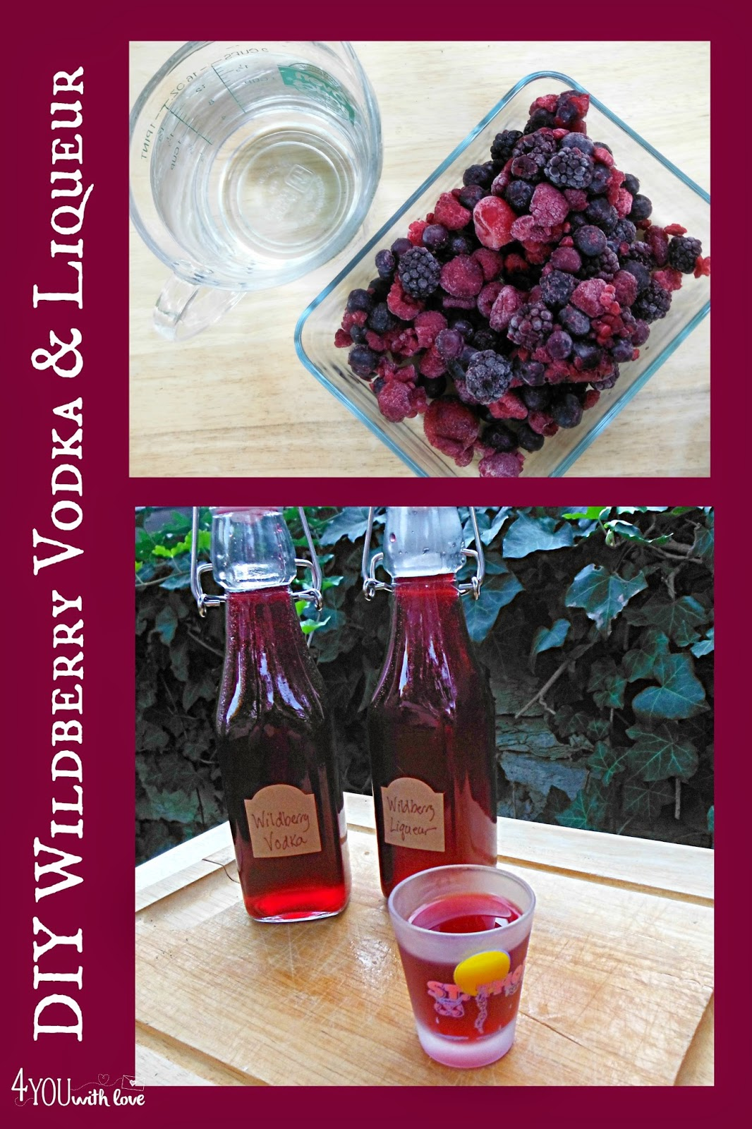 DIY wildberry liqueur