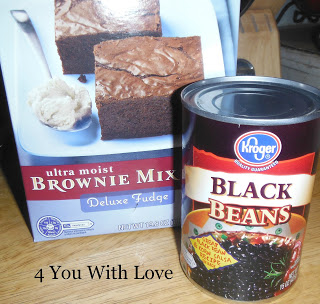 Brownie Mix + Black Beans = YUMMO!