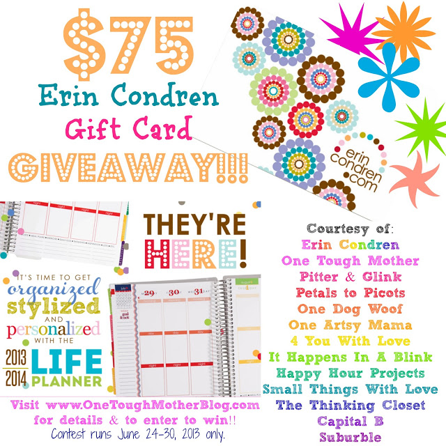 $75 Erin Condren Gift Card Giveaway!