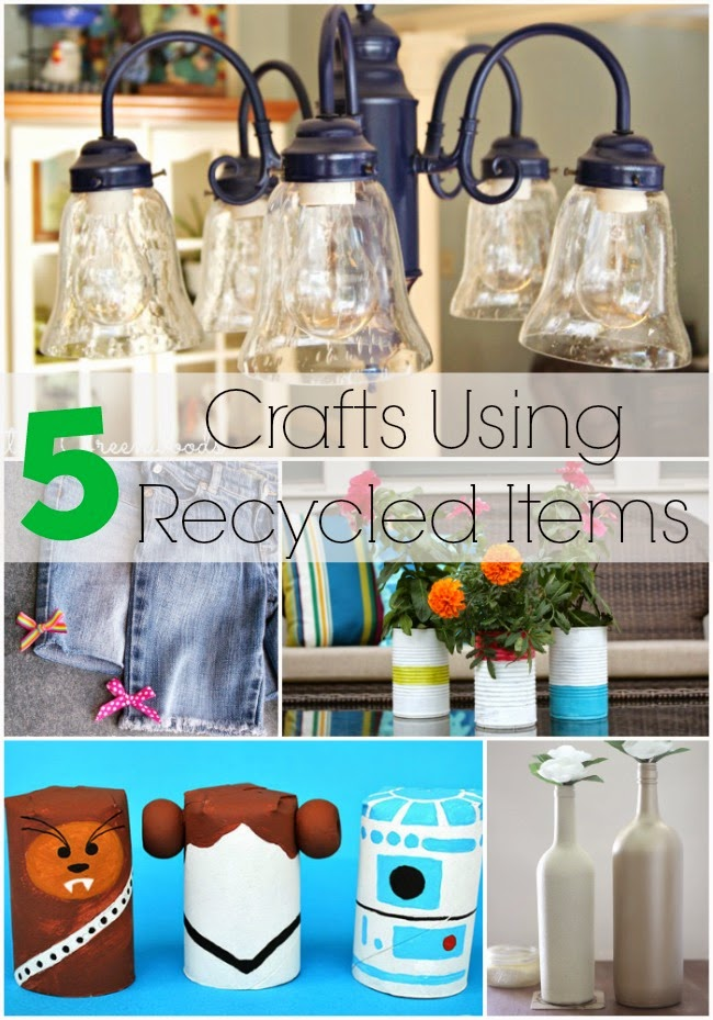 5 Crafts Using Recycled Items AND The Project Stash Link Party