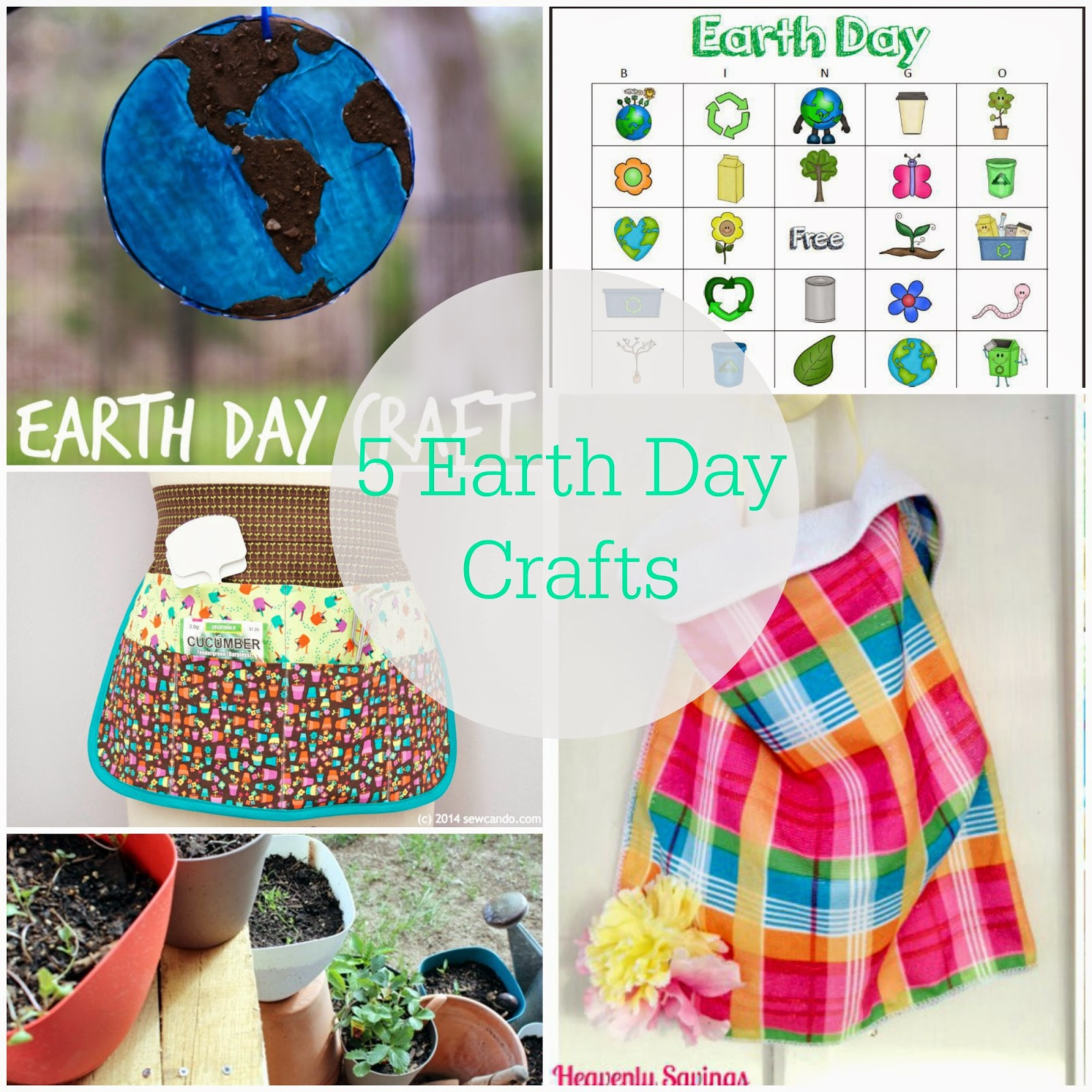 5 Earth Day Crafts AND The Project Stash Link Party