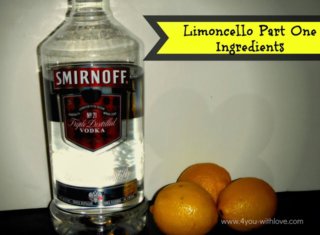 Limoncello Part 1 (#Homemadeholidays)