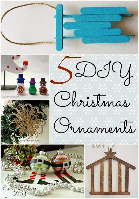 Project Stash 29 – 5 DIY Christmas Ornaments