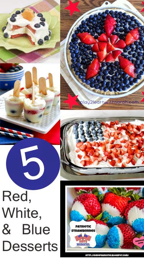 5 Red, White and Blue Desserts and The Project Stash Link Party!