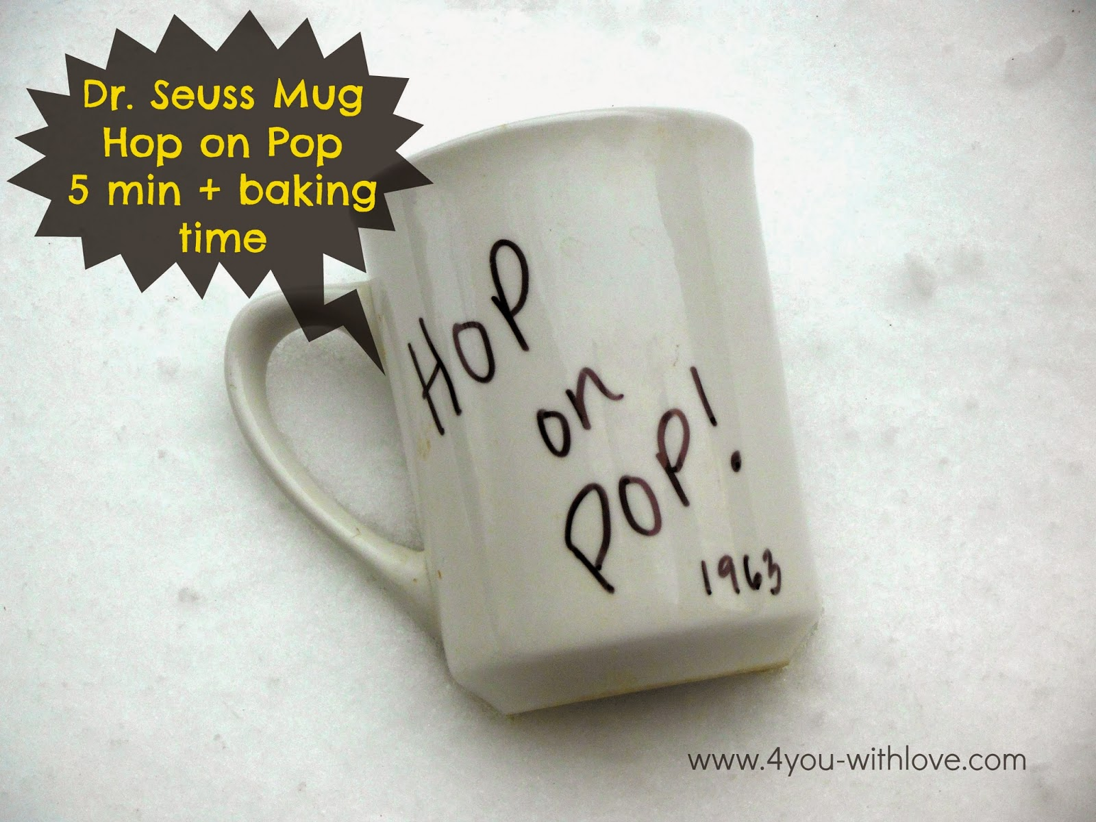Hop on Pop Mug (#CraftLightning #FathersDay)