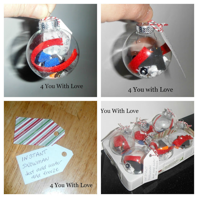 Homemade Holiday Inspiration Day 11 – Instant Snowman Ornament