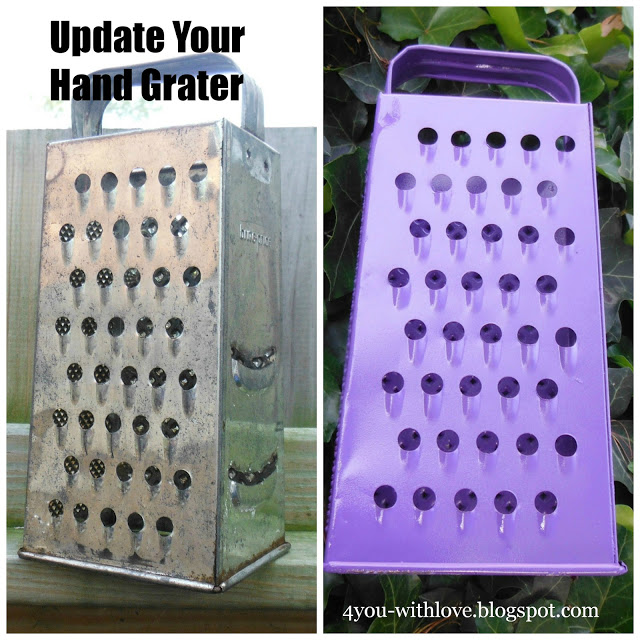 An Old Cheese Grater – Drab to Fab! (Plus a Spray Painting Tip)