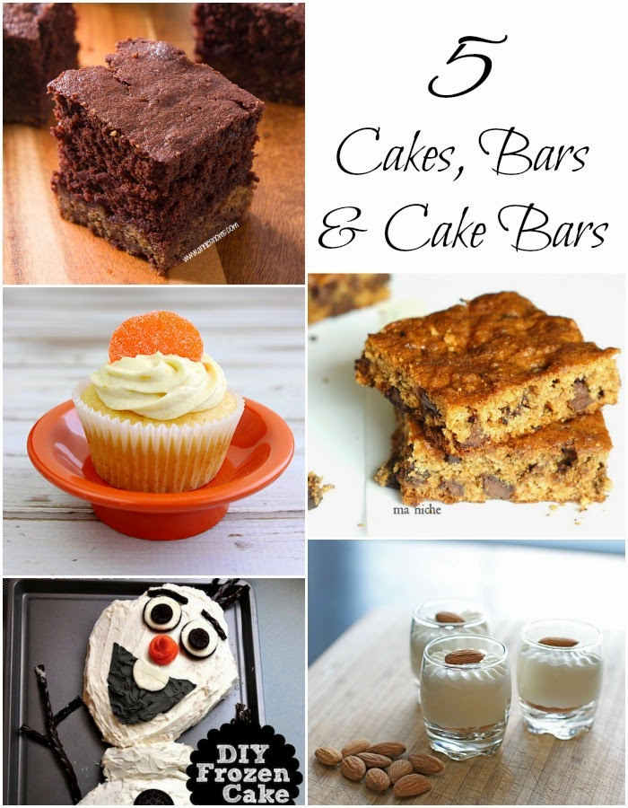 5 Cakes, Bars, and Cake Bars + The Project Stash Link Party