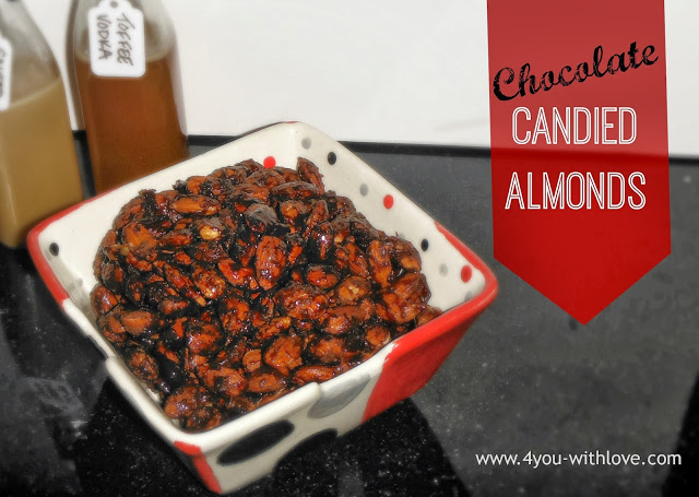 Chocolate Candied Almonds (#HomemadeHolidays)