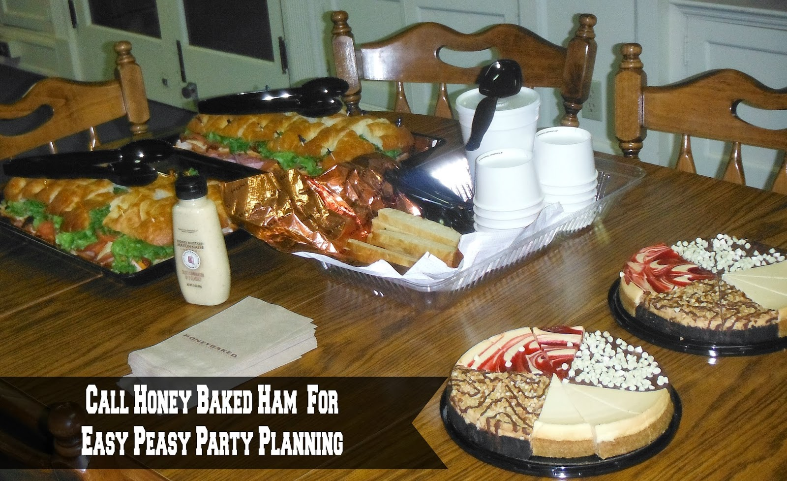 Call Honey Baked Ham for Easy Peasy Party Planning #HoneyBakedGameDay #Giveaway
