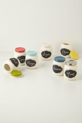 DIY Anthropologie Inspired Chalk Board Storage Jars