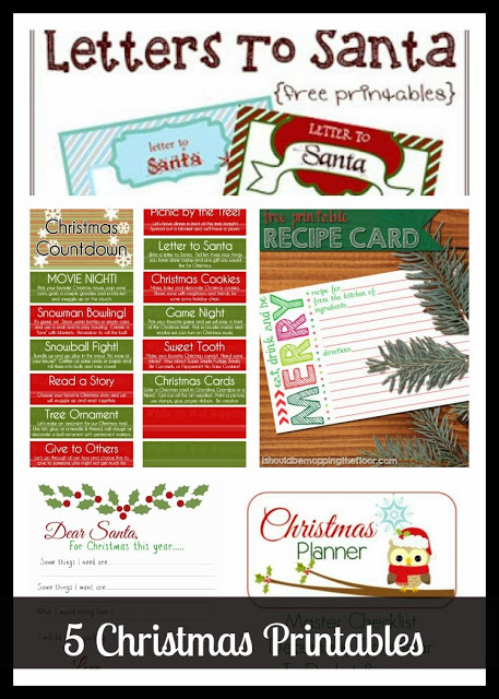 Project Stash 28 – 5 Christmas Printables