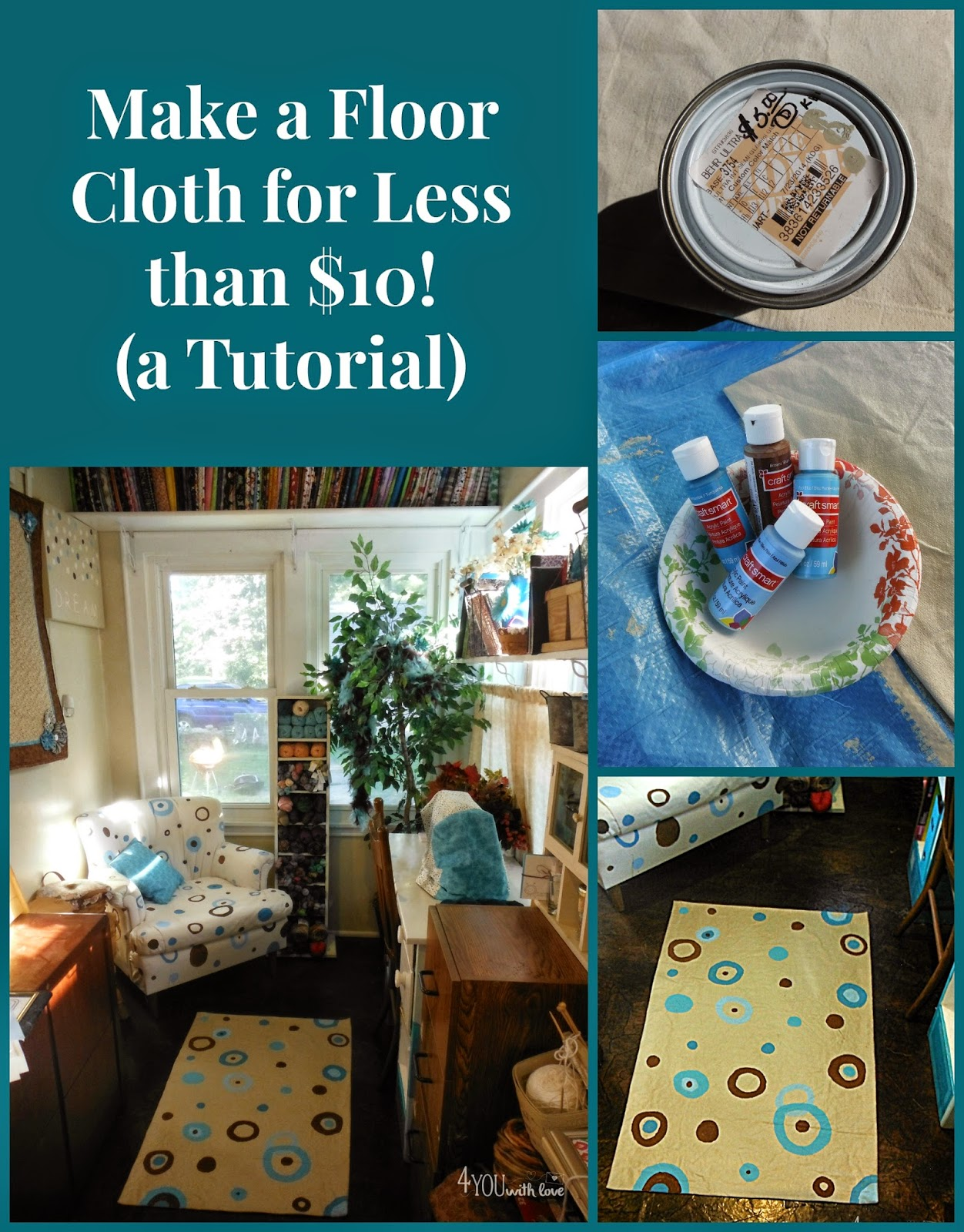 Make Your Own Floor Cloth (Tutorial)