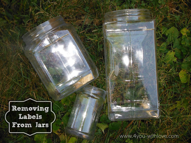 the easiest way to remove labels from jars 4 you with love