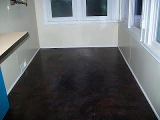 Concrete Floor + Paper Bags + Polyurethane + RIT Dye = Another Fabulous Floor