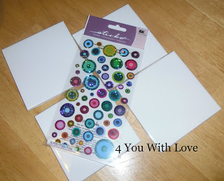 Tile Coasters with Washi Tape and Stickers